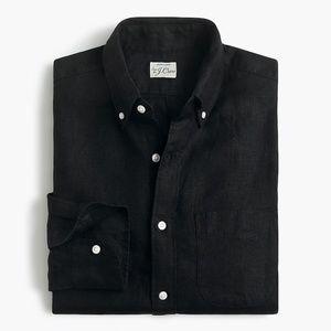 New JCREW Mens Size M T MT Tall Irish Linen Shirt